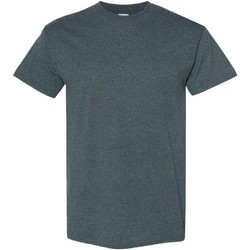 Textiel Heren T-shirts korte mouwen Gildan Heavy Donkere Heide