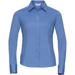Textiel Dames Overhemden Russell 924F Bedrijfsblauw