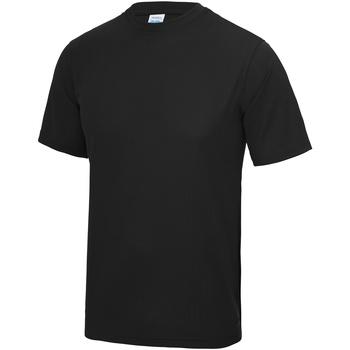 Textiel Heren T-shirts korte mouwen Awdis JC001 Jet Zwart