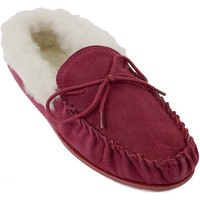 Schoenen Dames Sloffen Eastern Counties Leather Moccasin Crimson