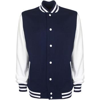 Textiel Heren Wind jackets Fdm Contrast Marine / Wit