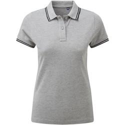 Textiel Dames Polo's korte mouwen Asquith & Fox Classics Heide Grijs/Zwart