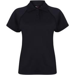 Textiel Dames Polo's korte mouwen Finden & Hales LV371 Marine/Navy