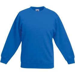 Textiel Kinderen Sweaters / Sweatshirts Fruit Of The Loom 62031 Royaal Blauw