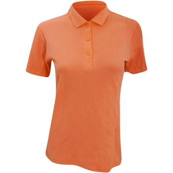 Textiel Dames Polo's korte mouwen Anvil Pique Mandarijn Oranje