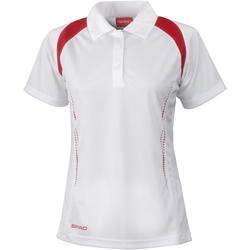 Textiel Dames Polo's korte mouwen Spiro Performance Wit/rood