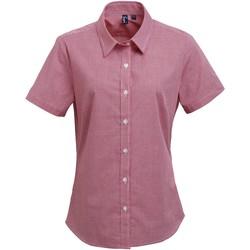 Textiel Dames Overhemden Premier Check Rood/Wit