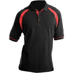 Textiel Heren Polo's korte mouwen Kustom Kit KK615 Zwart/Rood