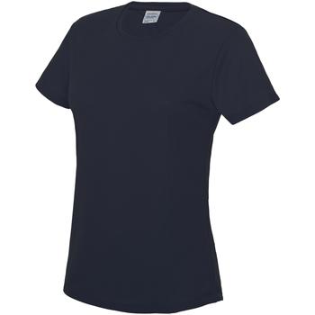 Textiel Dames T-shirts korte mouwen Just Cool JC005 Franse marine