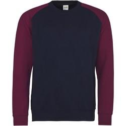 Textiel Heren Sweaters / Sweatshirts Awdis Baseball Marine Oxford/Burgondië