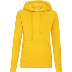 Textiel Dames Sweaters / Sweatshirts Fruit Of The Loom Hooded Zonnebloem Geel