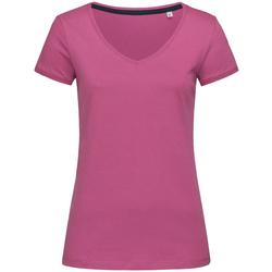 Textiel Dames T-shirts korte mouwen Stedman Stars Megan Cupcake Roze