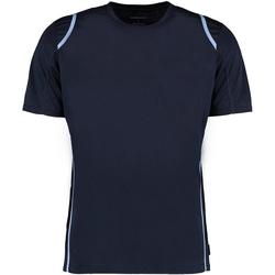 Textiel Heren T-shirts korte mouwen Gamegear Cooltex Marine / Lichtblauw