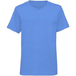 Textiel Jongens T-shirts korte mouwen Russell J166B Blauwe mergel