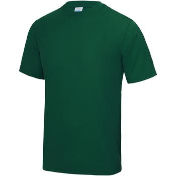 Textiel Heren T-shirts korte mouwen Awdis Performance Fles groen