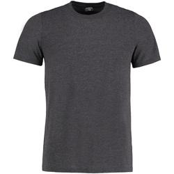 Textiel Heren T-shirts korte mouwen Kustom Kit Fashion Fit Donkergrijs mergel