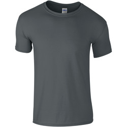 Textiel Kinderen T-shirts korte mouwen Gildan Soft Style Houtskool