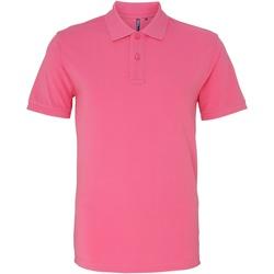 Textiel Heren Polo's korte mouwen Asquith & Fox AQ010 Roze Anjer