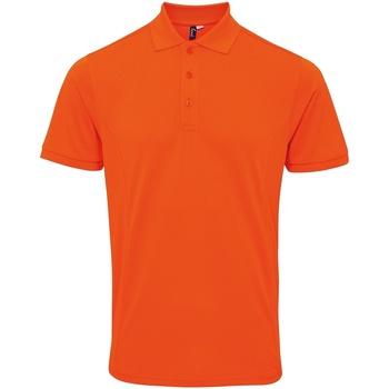 Textiel Heren Polo's korte mouwen Premier Coolchecker Oranje