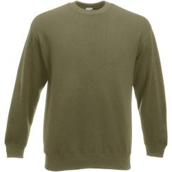 Textiel Heren Sweaters / Sweatshirts Fruit Of The Loom Premium Klassieke Olive