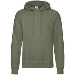 Textiel Heren Sweaters / Sweatshirts Fruit Of The Loom Hooded Klassiek Olive