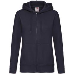 Textiel Dames Sweaters / Sweatshirts Fruit Of The Loom Hooded Donker Marine