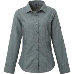 Textiel Dames Overhemden Premier Poplin Grijze Denim