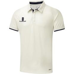Textiel Heren Polo's korte mouwen Surridge SU013 Wit/Navy versiering
