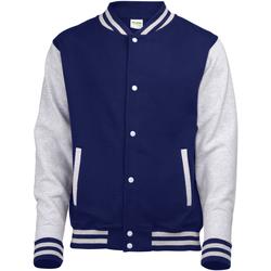 Textiel Kinderen Wind jackets Awdis Varsity Marine Oxford / Heather Grey