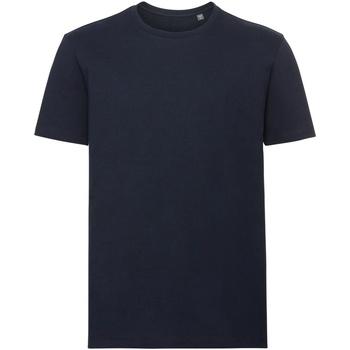 Textiel Heren T-shirts korte mouwen Russell Organic Franse marine