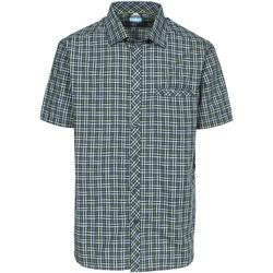 Textiel Heren Overhemden korte mouwen Trespass Baffin Olijfscheck