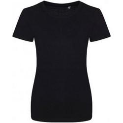 Textiel Dames T-shirts korte mouwen Ecologie Organic Jet Zwart