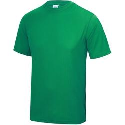 Textiel Heren T-shirts korte mouwen Awdis Performance Kelly Groen