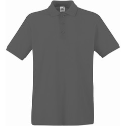 Textiel Heren Polo's korte mouwen Fruit Of The Loom Premium Licht Graphite