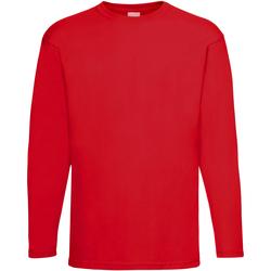 Textiel Heren T-shirts met lange mouwen Universal Textiles 61038 Helder rood