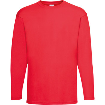 Textiel Heren T-shirts met lange mouwen Universal Textiles Casual Helder rood