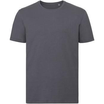 Textiel Heren T-shirts korte mouwen Russell Organic Konvooi Grijs