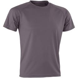 Textiel T-shirts korte mouwen Spiro Aircool Grijs