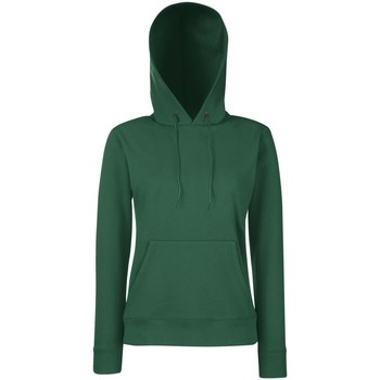 Textiel Dames Sweaters / Sweatshirts Fruit Of The Loom Hooded Bottle Groen