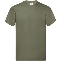 Textiel Heren T-shirts korte mouwen Fruit Of The Loom Original Klassiek Olive