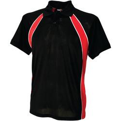 Textiel Heren Polo's korte mouwen Finden & Hales Jersey Zwart/Rood/Wit