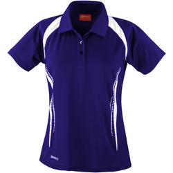 Textiel Dames Polo's korte mouwen Spiro Performance Marine / Wit