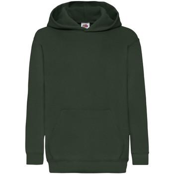 Textiel Kinderen Sweaters / Sweatshirts Fruit Of The Loom Hooded Bottle Groen