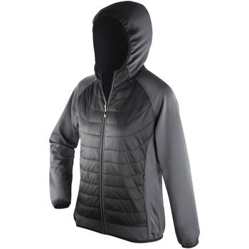 Textiel Dames Dons gevoerde jassen Spiro Showerproof Zwart/Kool