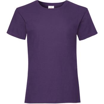 Textiel Meisjes T-shirts korte mouwen Fruit Of The Loom Valueweight Paars