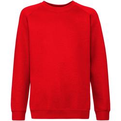 Textiel Kinderen Sweaters / Sweatshirts Fruit Of The Loom Raglan Rood
