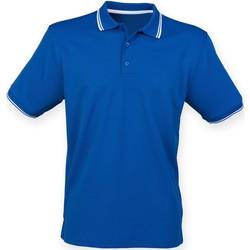 Textiel Heren Polo's korte mouwen Henbury HB482 Koninklijk/Wit