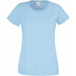 Textiel Dames T-shirts korte mouwen Fruit Of The Loom 61372 Hemel Blauw
