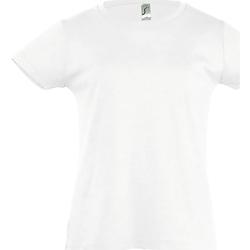 Textiel Meisjes T-shirts korte mouwen Sols Cherry Wit