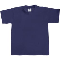 Textiel Kinderen T-shirts korte mouwen B And C Exact 190 Marineblauw